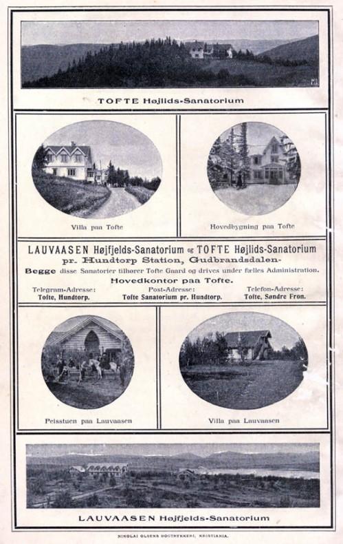 Ein kunne ikkje ta byfolk rett til fjells. Dei måtte akklimatiserast på Tofte Høilidshotel først først.