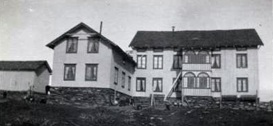 Det gamle hovudhuset på Fagerhøi brann 16. juli 1976