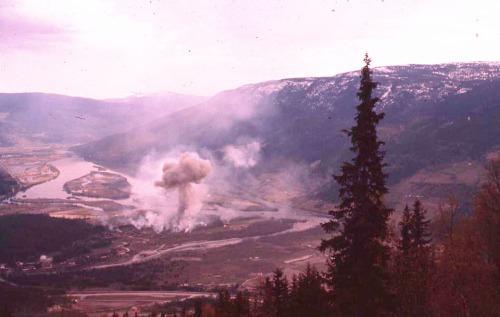 Ammunisjonslageret på Frya eksploderer i 1960