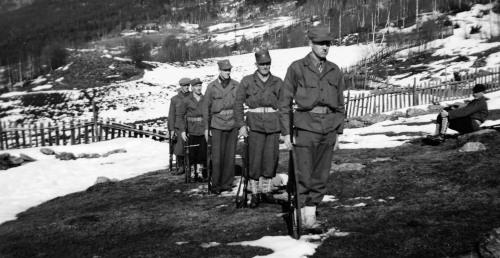 Heimevernet våren 1950. Bilde frå Per Ottesen