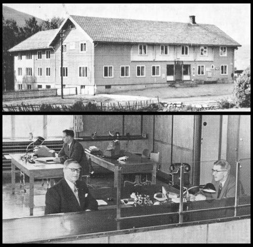 Egil Stakston: Sør-Fron Sparebank 100 år i 1960. Fra begynnelsen i 1860 var banken åpen kun annenhver lørdag fra kl. 13-17. Første banklokalet var på Oden. Deretter var banken innom Listad, Rudi og Rolstad før den i 1903 fikk lokaler i det nybygde kommunelokalet som banken og kommunen da eide felles med én halvpart hver. Sør-Fron Bank- og kommunelokal vart i sin tid tegna og satt opp av byggmester Hans J. Haverstad i 1902-03. Bygningen, slik vi ser den på bildet, vart utvida i 1936 og 1958. Bankfunksjonærene i jubileumsåret (1960) var Ragnar Listad, Sverre Bergseth og Sigurd Widme. Kilde: Jubileumsbok 1860-1960