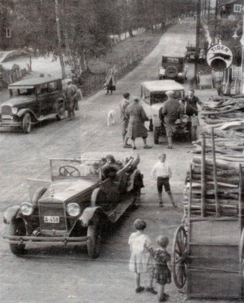 Kongehusets bilar Vinstra 1929