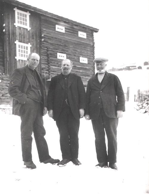 Pål Tokse, Johan Nigard Brandvold og Ole Brandvold.