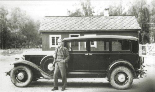 Vinstra-drosje i Kvam i 1937 (foto: VInstra auto)