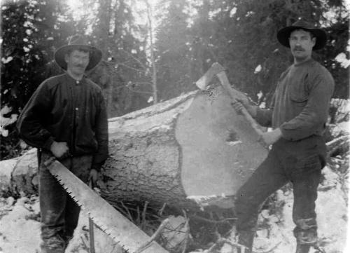 Tømmerhoggere. Bilde frå Per Ottesen