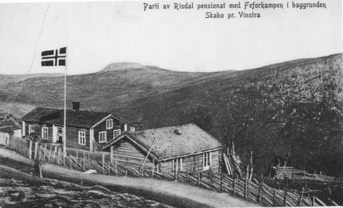 Johannes Risdal f. 1865, gm Karen Erlandsdotter Skabo f. 1863, fekk gammelstugua som stod att der den samla Risdalsgarden stod. Han sette opp att denne ved bygdevegen og starta opp med landhandleri og postopneri. Seinare bygde han på og begynte med pensjonatdrift. Det har vore fleire eigarar her opp gjennom åra. Johannes selde staden i 1918 til I. A. Jensen og Dahl, eigarane av Myrens Mekaniske Verkstad i Oslo. Før 2. verdskrigen var eigedomen på forskjellige hender. Ein Skedsmo hadde det som feriestad og Filadelfiaforlaget dreiv med verksemda si her i fleire år. Ein av pinsevennane, Johansen, sette også i gang heimebakeri på Vinsterlia. Karin Hoel, mor til skodespelaren Willy Hoel, kjøpte staden og dreiv med pensjonatdrift ein del år. Dei selde til Knut og Kari Skogstad, som dreiv pensjonatet til 1965. Da kom det ein engelsk familie dit ved namn Franklin. Dei var profesjonelle musikarar og dreiv både med musikkopplæring og pensjonatdrift. Han var ein svært god pianist og hadde elevar rundt omkring i Gudbrandsdalen. Ho var songarinne og hadde hatt sin debut i London. I 1977 selde dei og flytta til Telemark. Dei nye eigarane var verktykonsernet Luna AB frå Sverige. Dei skulle ha plassen som feriestad til arbeidarane sine. Dei bordkledde den gamle bygningen. Dei siste 20 åra er det familien Rostoft som har vore eigarar av Vinsterlia. Dei har restaurert og kosta på eigedomen betydelege summar. Det har vore ein del kjendisar der. Willy Hoel er ikkje den einaste skodespelaren som har vore der. Både Martin Gesti og musikarane Barratt Due og Liv Glaser har feriert på staden. Huset til høgre var gardsmeieri. Det var fleire gardbrukarar i Skåbu som slo seg saman og starta opp med produksjon. Drifta vart truleg lagt ned før 1920. Huset vart selt til Anton Brenden og står enda på bureisingsbruket Solheim.