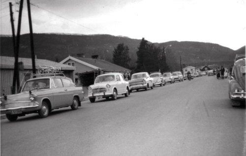 Vinstra Øvregate på 60-talet (foto: Vinstra auto)