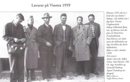 Lærarar på Vinstra 1959