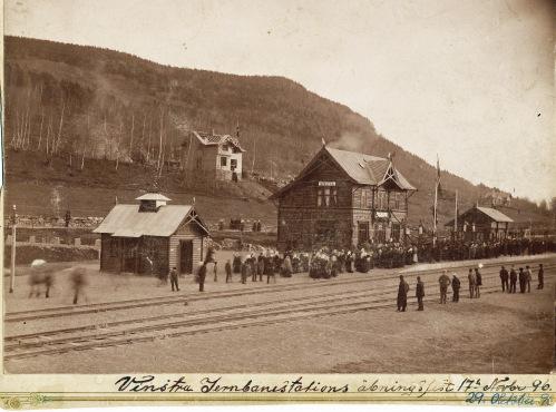 Vinstra stasjon åpningsfest 1896