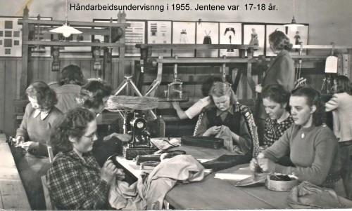Handarbeidsundervisning i 1955