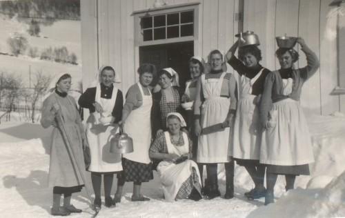 Kjøkkenarbeid i 1953