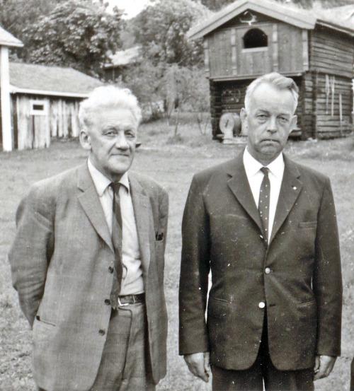 Saman med Olav Dalgard, i 1963