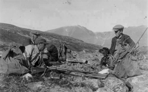 Vuludalen 1926. Hans, Ole og Halvor.