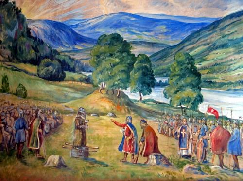 Ragnvald Einbu Kristningsmøtet på Hundorp