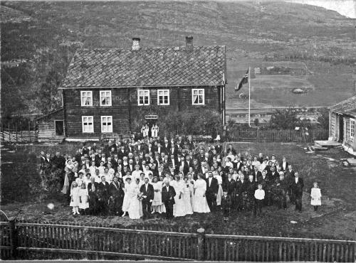 img026 Bryllup i Prestegården i Nord-Fron først på 1900-tallet