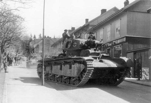 Tyske stridvogner i Lillehammer
