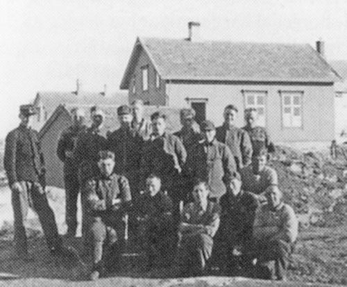 Gull. Vaktmanskap på  Frøya 3.mai 1940