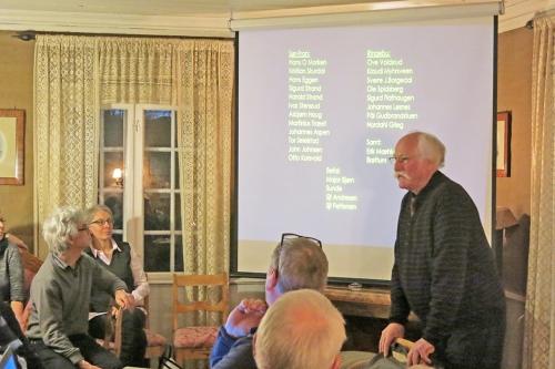 Hans Petter Kleiven: Her er de som var med. Foto. Carl Henrik Grøndahl