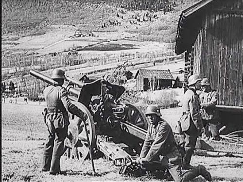 Tyske artilleristar i Kvam