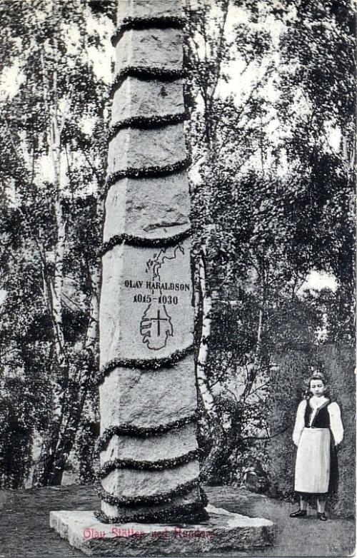 olav-støtten ved hundorp 1907