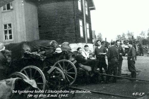 Da tyskerne bodde i Skolegården og Sulheim, før og etter 8.mai 1945.