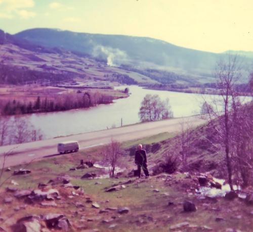 Nr. 114 A.W. Tomtene til Øiadalen og Harpefossdammen, ved Solbrå 1967, sør for Øia.