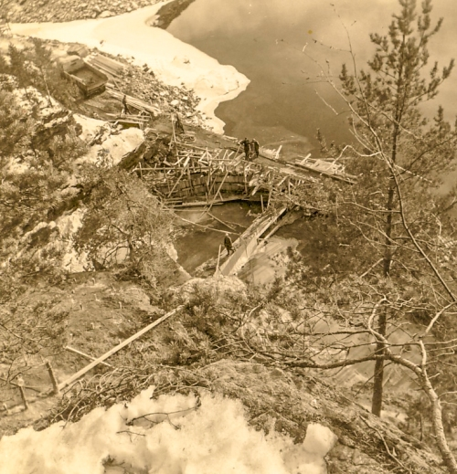 Nr. 115 A.W. Grøntuhullet, under anlegget 1965.