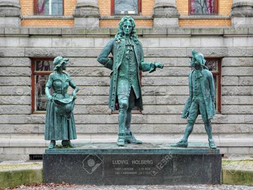 Ludvig Holberg monument in Oslo, Norway